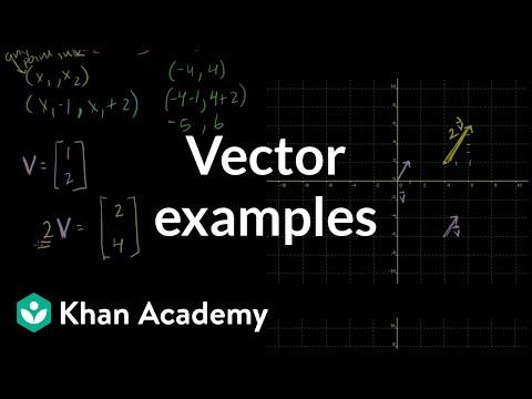 Linear Algebra: Vector Examples