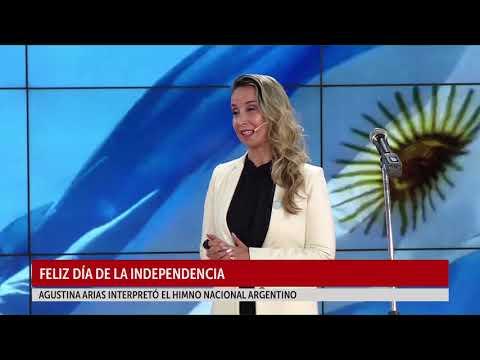 Día de la Independencia: Agustina Arias interpretó el Himno Nacional Argentino