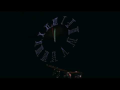 Drone Show Singapore New Year 2020