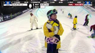 Chloe Kim wins Silver in Snowboard SuperPipe