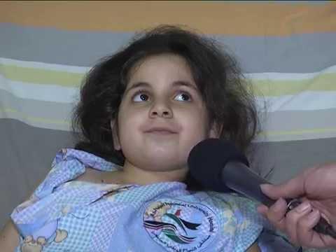 فيديو الطفلة سامية ريحان  من غزة تروي قصة إصابتها