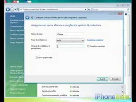 Configurare Windows Vista per utilizzare Pdanet sull'iPhone (by iPhoneItalia.com)