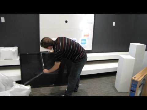 Samsung PN59D6500 59  Plasma Smart HDTV Unboxing & First Look Linus Tech Tips