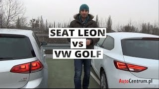 Seat Leon SC vs VW Golf - wideotest AutoCentrum.pl