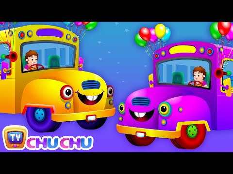 Wheels on the Bus Go Round and Round Rhyme (PART 2)  - Cartoon Animation Rhymes Songs for Children