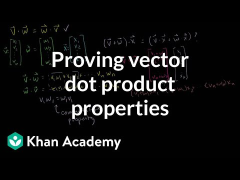 Proving Vector Dot Product Properties