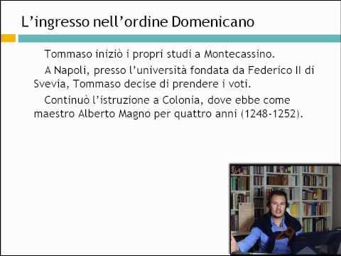 Cenni bio S.Tommaso - Storia della filosofia ellenistica e medievale