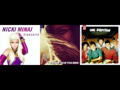 Nicki Minaj vs. Rihanna vs. One Direction - Where Have Starships Been Beautiful
