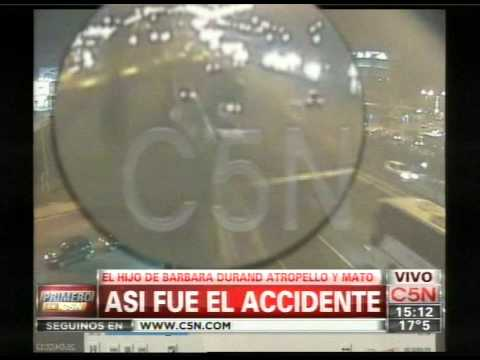 C5N - POLICIALES: ASI FUE EL ACCIDENTE DEL HIJO DE BARBARA DURAND