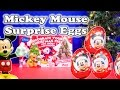 MICKEY MOUSE Disney Mickey Mouse Christmas Surprise Eggs a Disney Surprise Egg Video