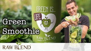 How to Make a Green Smoothie Recipe in a Vitamix Blender by Raw Blend