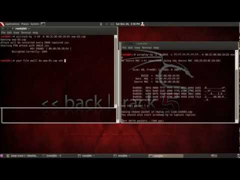 how to hack wifi WEP with backtrack 5 R1 with commands