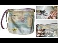 How to Sew a Messenger Bag - Frocks & Frolics  'Grab THAT Bag' Pattern