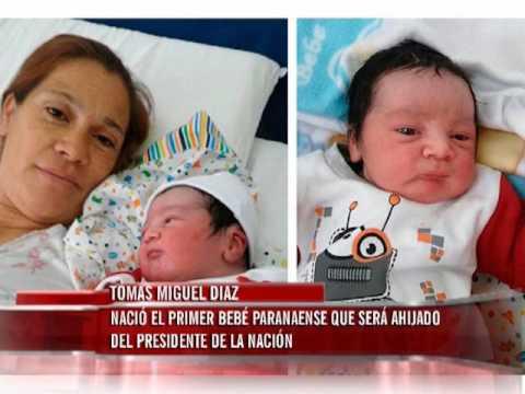 Séptimo hijo varón nació en Paraná y será ahijado del Presidente de la Nación