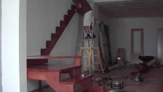 fabricacion de escalera de madera www.balaustradashuertas.com