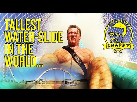 WORLD'S TALLEST WATER SLIDE! | Man City's Chappy takes on Verruckt!