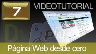 Tutorial: Como hacer página Web con Dreamweaver y PHP. Cap. 7