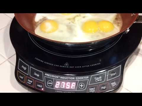 NuWave (PIC) Precision Induction Cooktop Fried Eggs
