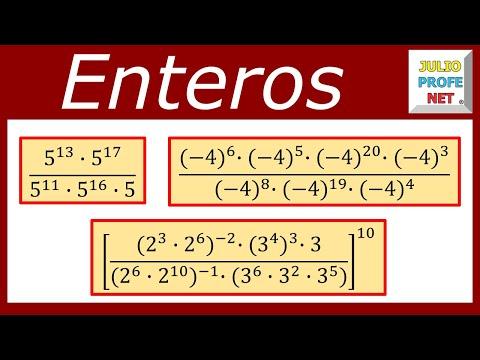 Potenciación de números enteros