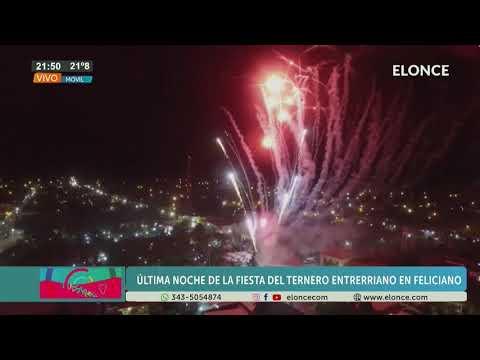 Fiesta Provincial del Ternero Entrerriano: Show de fuegos artificiales en la última noche