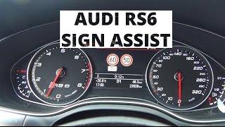 Audi RS6 Avant - działanie systemu Sign Assist