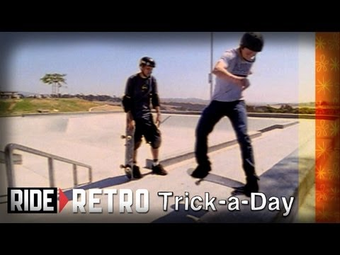 How-To Frontside Tailslides with Tony Hawk & Brian Sumner - Retro Trick-a-Day