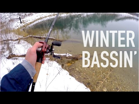 Winter Jig Fishing For Bass How-To -- GoPro