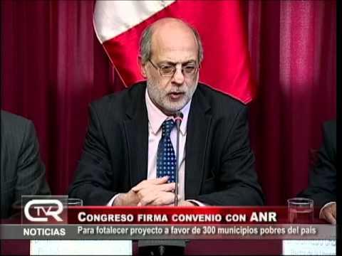 Congreso de la República firma convenio con ANR