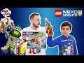 Папа Роб и Ярик продолжают собирать конструктор LEGO NEXO KNIGHTS Аэро-арбалет Аарона Арт. 72005!