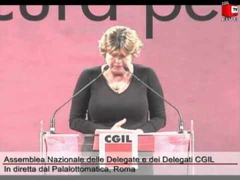 Intervento di Susanna Camusso. Assemblea Nazionale Delegati e Delegate CGIL
