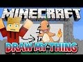 Draw My Thing - Charmander! Minecraft Mini-Game w/Preston & Nooch
