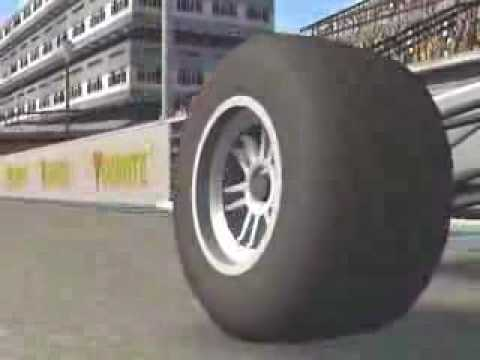 Tyre deformation in Live for Speed (slowmotion)