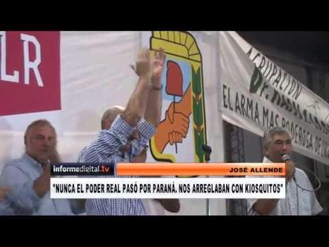 <b>Lanzamiento de De La Rosa.</b> Allende quiere que el PJ Paran� dispute la gobernaci�n