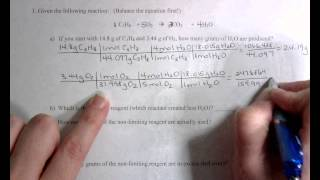 Limiting Reagent Worksheet #1 - YouTube