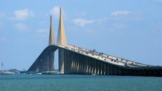 Sunshine Skyway Bridge Drive Tampa Bay Florida Youtube