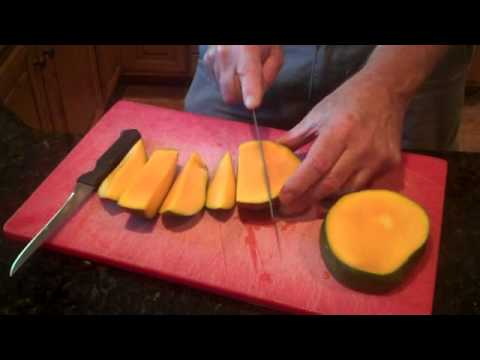 Cutting a mango--easy and fast