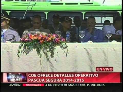 COE ofrece detalles operativo Pascua Segura 2014…