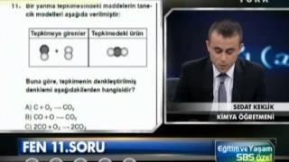 SBS 2013 Kimya Soru Çözümleri