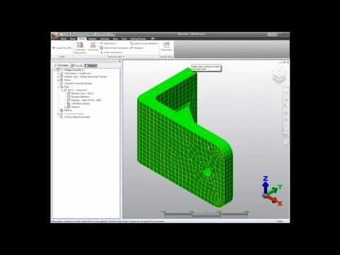 Autodesk Simulation 2012 - How to Set Up a Thermal or Heat Transfer Analysis