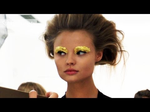 Fendi Hair & Makeup Backstage ft Lagerfeld - Milan Fashion Week Spring 2012 MFW | FashionTV FTV
