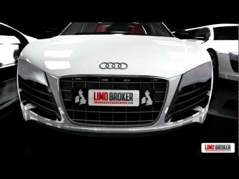 Audi R8 V10 Limo met 8 zitplaatsen van Limo Broker