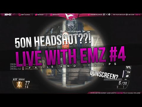 Obey EmZ: Live With EmZ #4 (BO2 Clips & Fails)