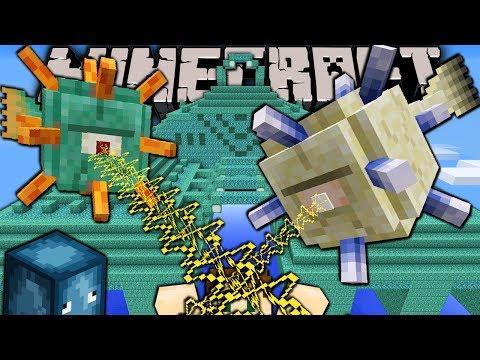 Minecraft 1.8 Snapshot: Guardian Monster, Elder Boss, Ocean Monument, New Prismarine Block Sponge
