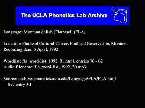 Flathead audio: fla_word-list_1992_30
