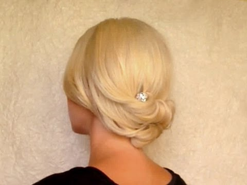 New Years eve hair tutorial  Easy rolled holiday updo for medium long hair without heat