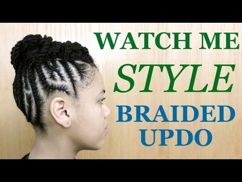 Watch Me Style | Braided Updo on Natural Hair