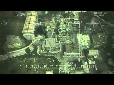 MW3 Game Clip: Remotely piloted Predator drone firing guided Hellfire missiles.