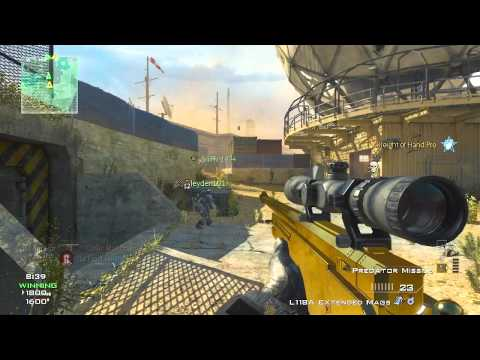 OpTic McKeown | MW3 Dome TDM Golden L118A Sniping Gameplay