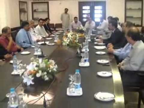 Mian Ateeq , Sheikh Hafeez addressing Rawalpindi Chamber Of Commerce