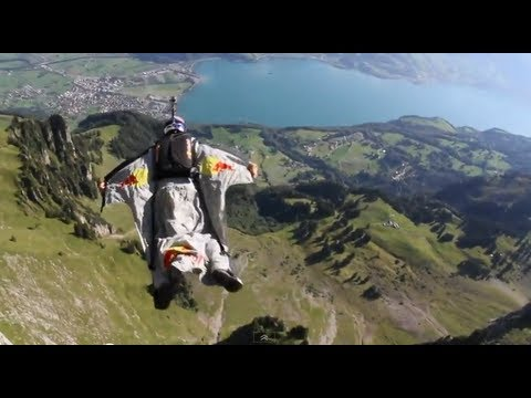 Wingsuit Gliding Thought the 'Crack' Gorge in Switzerland